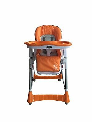 G4RCE Folding 3 IN 1 Baby Toddler Infant High chair Feeding Recliner Seat Orange