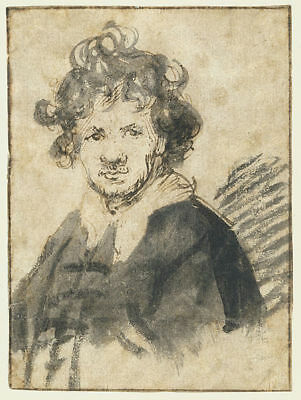 Vintage Rembrandt Painting - Collector Art Image - Free Image Delivery Option