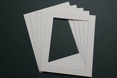 Pack Of 5 Photograph Picture Mounts 10X8 Inch For  8X6 Print Choice Of Colour