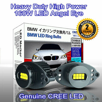Heavy Duty 30000K Blue BMW CCFL Angel Eyes Rings DRL E46 Compact ti td E83 X3