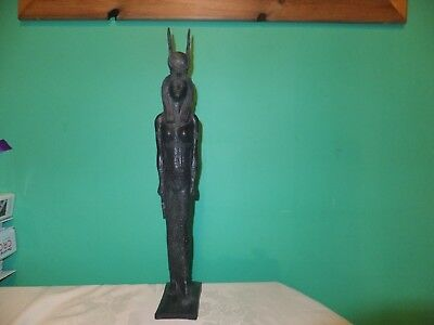 Large Ancient Egyptian goddess ISIS statuette (repro).