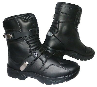 MTECH Adventure Motorbike Low Boots Motorcycle Water Proof Touring Boots Black