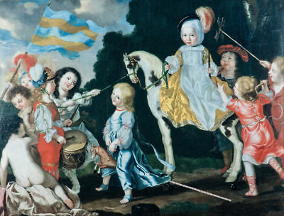 Vintage Painting of Children Fast Free Delivery Option Collector's Image