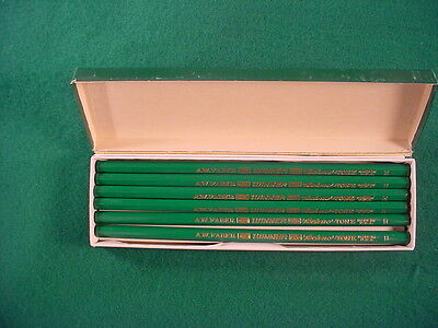 Vintage Dozen AW Faber #1900 Winner Techno-Tone Drawing Pencils-H-40's-USA-NOS