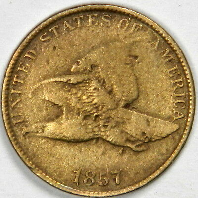 1857 Flying Eagle Cent - Fine - Priced Right!