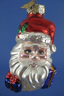 Santa Claus Face Glass Christmas Tree Ornament Thomas Pacconi Gifts Presents