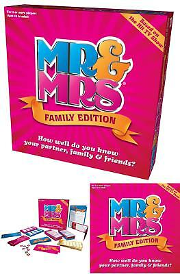 Mr And Mrs Family Edition Box Fun Game For Ages 10 Years To Adult Christmas Gift