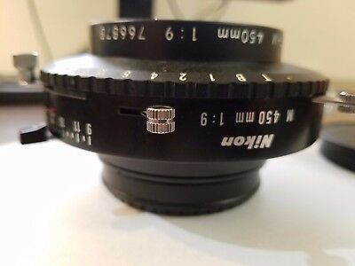 Used Nikon NIKKOR M 450mm f/9 Lens, Copal 3 Shutter (Very Good Condition)