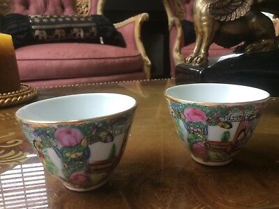 Two vintage Chinese Cups Hong Kong