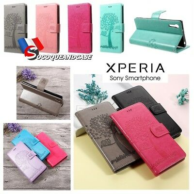 Etui Folio coque housse Cuir PU Leather case cover shell gamme all Sony XPERIA
