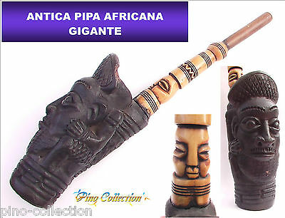 PIPA GIGANTE ANTICA AFRICANA CONGO Antique African Huge Pipe