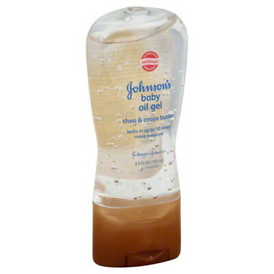 JOHNSON - JOHNSON Baby Oil Gel Shea & Cocoa Butter 6.50 oz