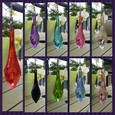 PEAR Light Pull Switch Bathroom Chrome Chain Blue Red Black Purple Green Crystal