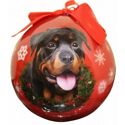 Rottweiler Shatterproof Ball Dog Christmas Ornament