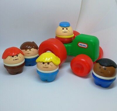 Vintage Chunky Little Tikes Toddle Tots People Figures Tractor Toy Lot (C2)