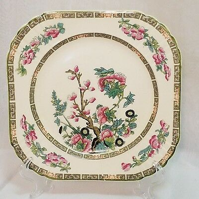 "Vintage Myott Staff Ordshire China England Indian Tree10""dinner Plate Collectios"