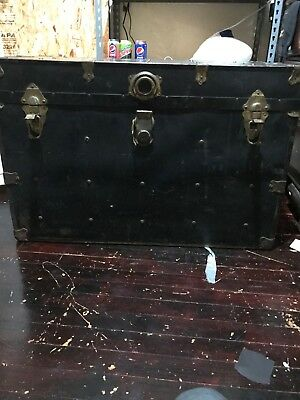 Metal 1950 Steamer Trunk (1 Handle Broken)