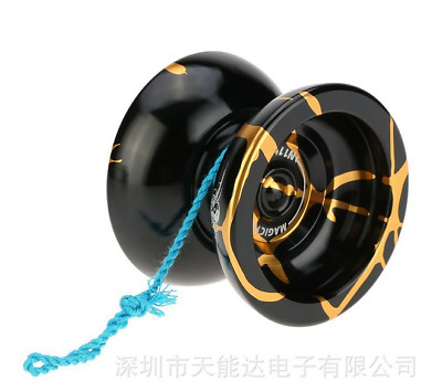 Aluminum Alloy Kids Professional Magic YOYO Ball N11 Splash  Toys Gift Black SL