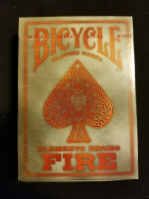 "Fire Elements Series Deck Bicycle Playing Cards ~USPCC ~ ""GREY"" Limited & Rare"