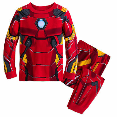 NWT Disney Store Iron Man Costume PJ Pal Marvel's Avengers