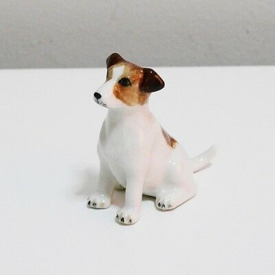 Jack Russell Terrier Dog Animal Ceramic Figurine Home Decor Collectible Gift 3