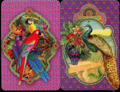 Swap Card Lyrebird And Parrots X2 Beautiful Colours (Brand New)