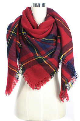 Women Blanket Oversized Tartan Big Long Scarf Wrap Shawl Pashmina Stole