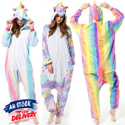 Unicorn Cute Cartoon Onesie2 Sleepwear Animal Costume Cosplay Pyjamas Slippers