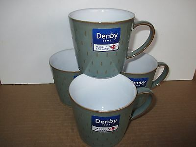 Denby Pottery Regency Green 4 x Cascade Mugs New 1st Quality Excellent Condition