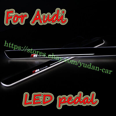 S-line LED Door Moving Welcome Pedal Light For Audi A1 A3 A4 A5 A6 A7 Q3 Q5 Q7