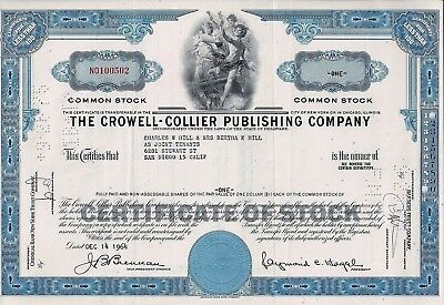 The Crowell - Collier Publishing Company, Delaware, 1964  (1 Share)
