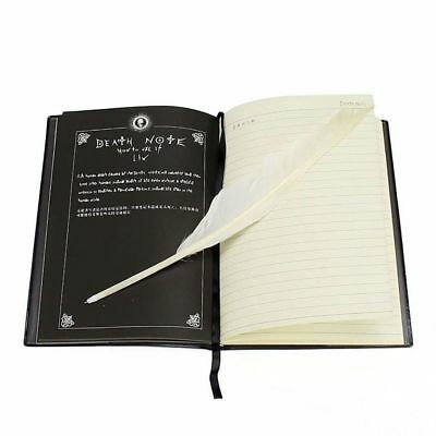 Death Note Anime Collectable Cosplay Notebook Book + Feather Pen Writing Journal