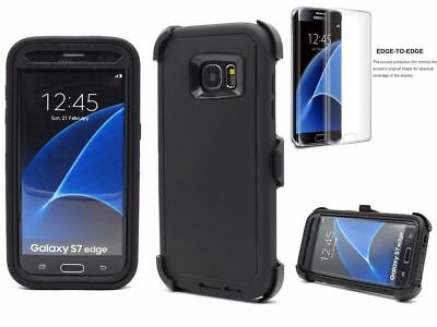 For Samsung Galaxy S7 Edge NEW Defender Case Tempered Glass & Clip Fit Otterbx