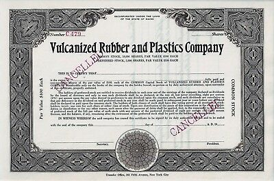 Vulcanized Rubber and Plastics Company, Maine, 19XX (Blankette / not issued)