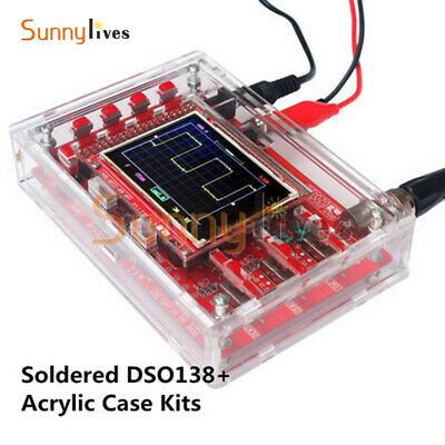"Soldered DSO138 2.4"" TFT Digital Oscilloscope Acrylic Case DIY Kit SMD"