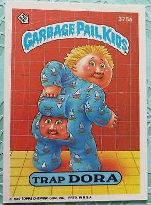 Garbage Pail Kids Topps Card Trap Dora 375a 2 Star Back Series 9 Combine Ship