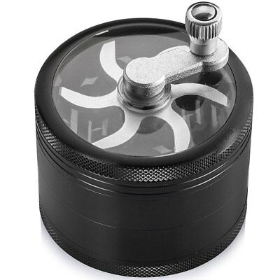 """Heavy Duty Premium Crusher Weed Herb Spice Tobacco 2.5"""" Grinder with Mill Handle"""
