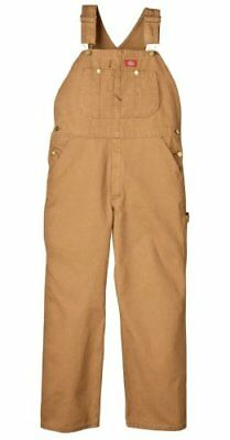 Men Premium Insulated Bib Overall Super-reinforced Back Pockets Brown 34W x 30L