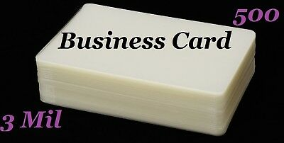 Business Card 500PK Laminating Laminator Pouch Sheets  2-1/4 x 3-3/4 (3 Mil)