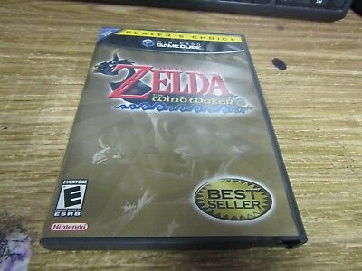 #605m Legend of Zelda: The Wind Waker Nintendo GameCube Players Choice Complete