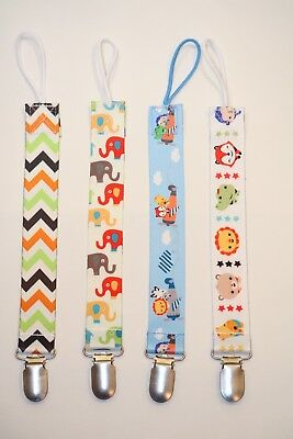Pacifier Clip 4-Pack, Binky Holder for Babies Universal Soothie Strap/Leash