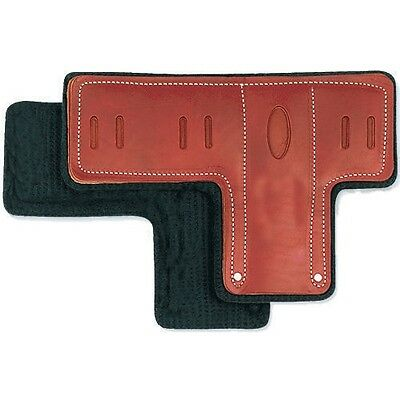 Pad Replacements For Climbing Spurs, T Pads, Premium Leather,Set of 2