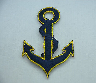 5pc BOATING ANCHOR SHIP WHEEL Embroidered Sew Iron On Cloth Patch Badge APPLIQUE