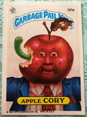Garbage Pail Kids Topps Card Apple Cory 121a Puzzle Back Original Series 3