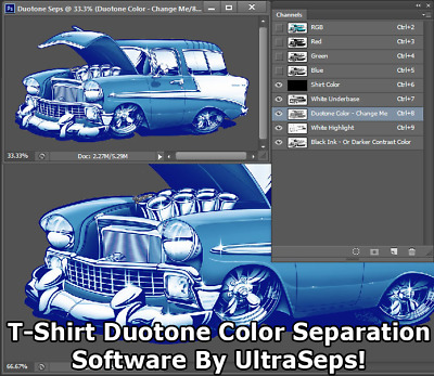 Duotone T-Shirt Screen Printing Color Separation Software - By UltraSeps!