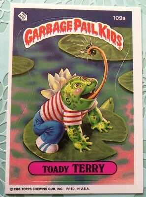 Garbage Pail Kids Topps Card Series Toady Terry 109a Original Series 3
