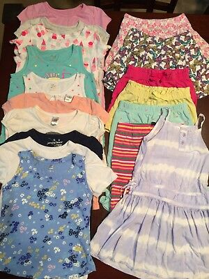 Lot of toddler girl clothes size 4T Spring/Summer 17 pieces