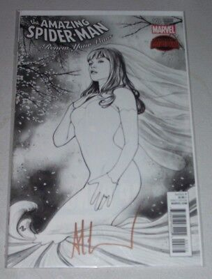 ASM Renew Your Vows #1! (2015) Legacy Sketch Variant! Signed by Adi Granov! NM!