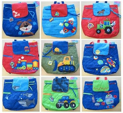 15c7018a7d1 NEW Boys Quilted Backpack Bag Over night Toddler Baby STEPHEN JOSEPH  Preschool
