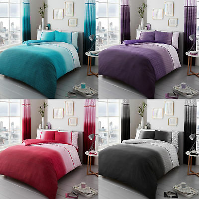 Urban Ombre Luxury Duvet Covers Quilt Covers Reversible Bedding Sets All Sizes
